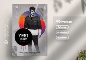 Artist Concert Free PSD Flyer Template