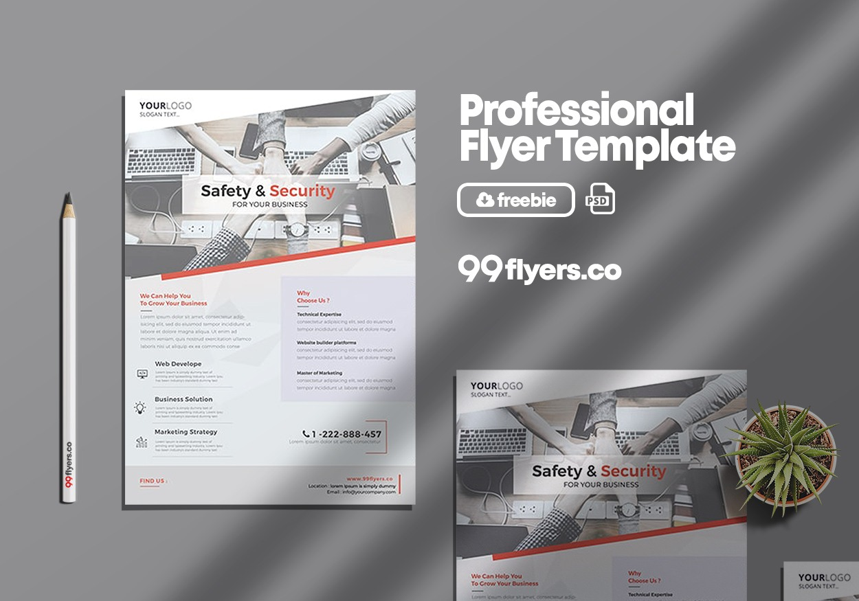 Business & Corporate - Clean Free PSD Flyer Template