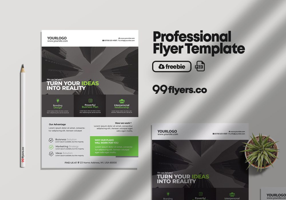 Corporate & Business Free PSD Flyer Template