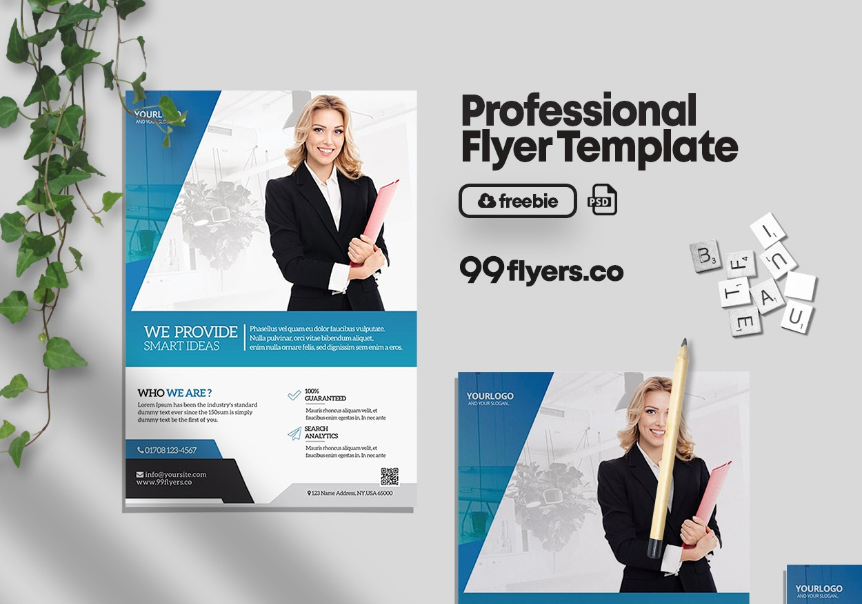 Creative Agency Free PSD Flyer Template