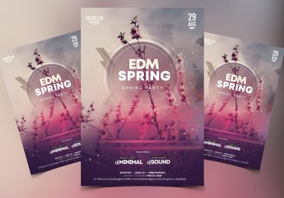 EDM Spring Free PSD Flyer Template