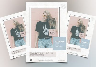 Fashion Week - Clean Free PSD Flyer Template