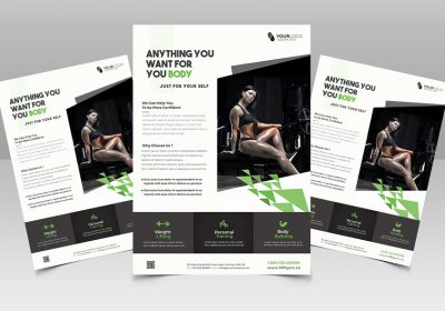 Fit your Body | Fitness Free PSD Flyer