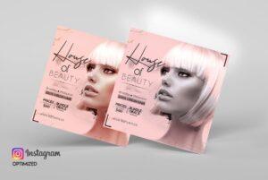 Hair Salon & Beauty Free PSD Flyer Template