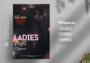 Ladies Night Free PSD Flyer Template