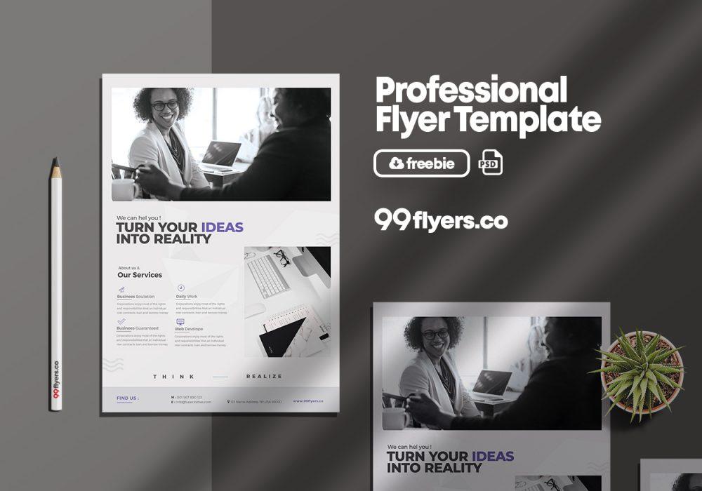 Minimal Corporate Free PSD Flyer Template