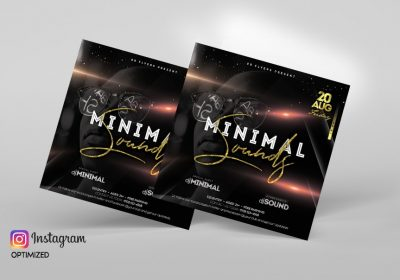 Minimal Sound PSD Free Flyer Template Vol.1