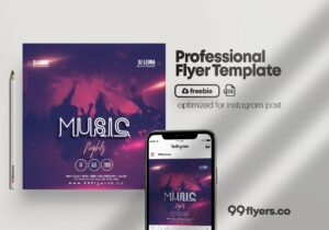 Music Nights Free PSD Flyer Template