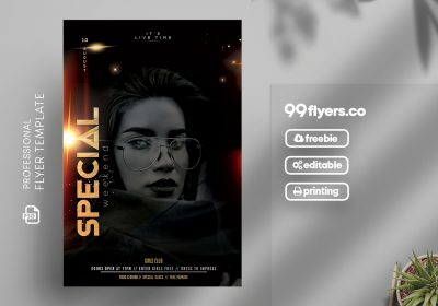 Special Weekend Free PSD Flyer Template