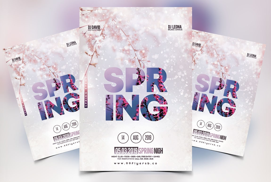 Spring Vibe PSD Free Flyer Template