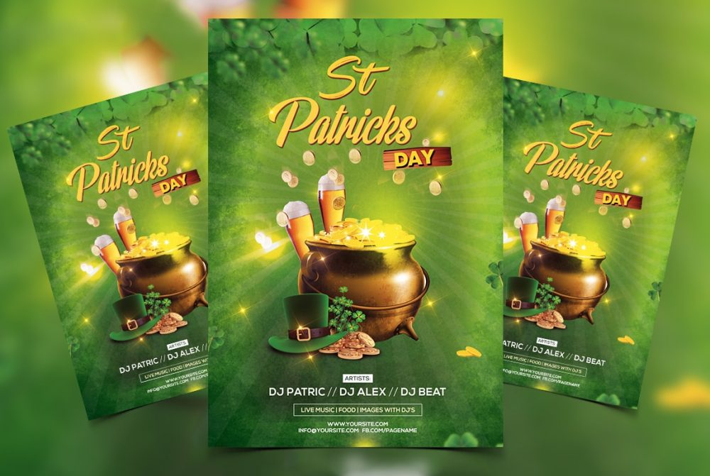 St. Patricks Free PSD Flyer Template