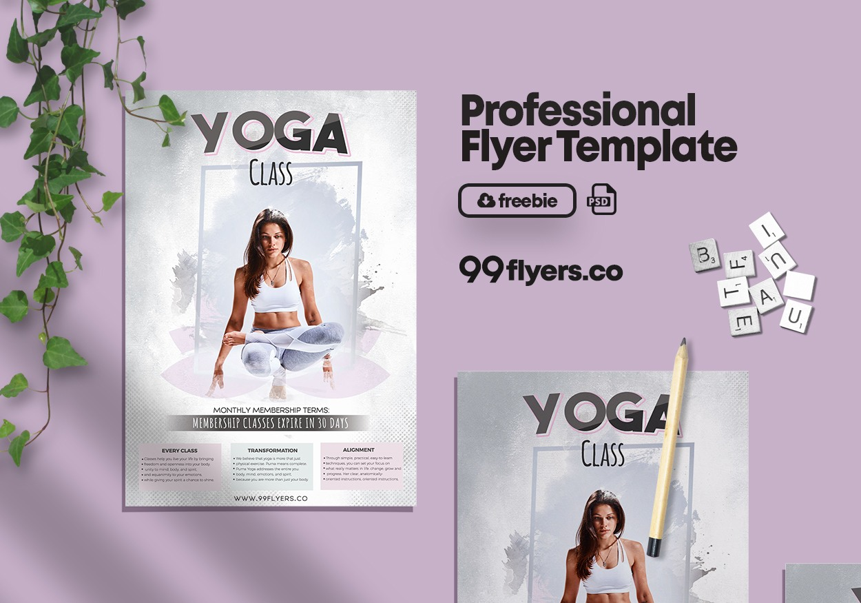 Yoga Day Free Psd Flyer Template 99flyers