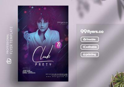 Club DJ Party Free PSD Flyer Template
