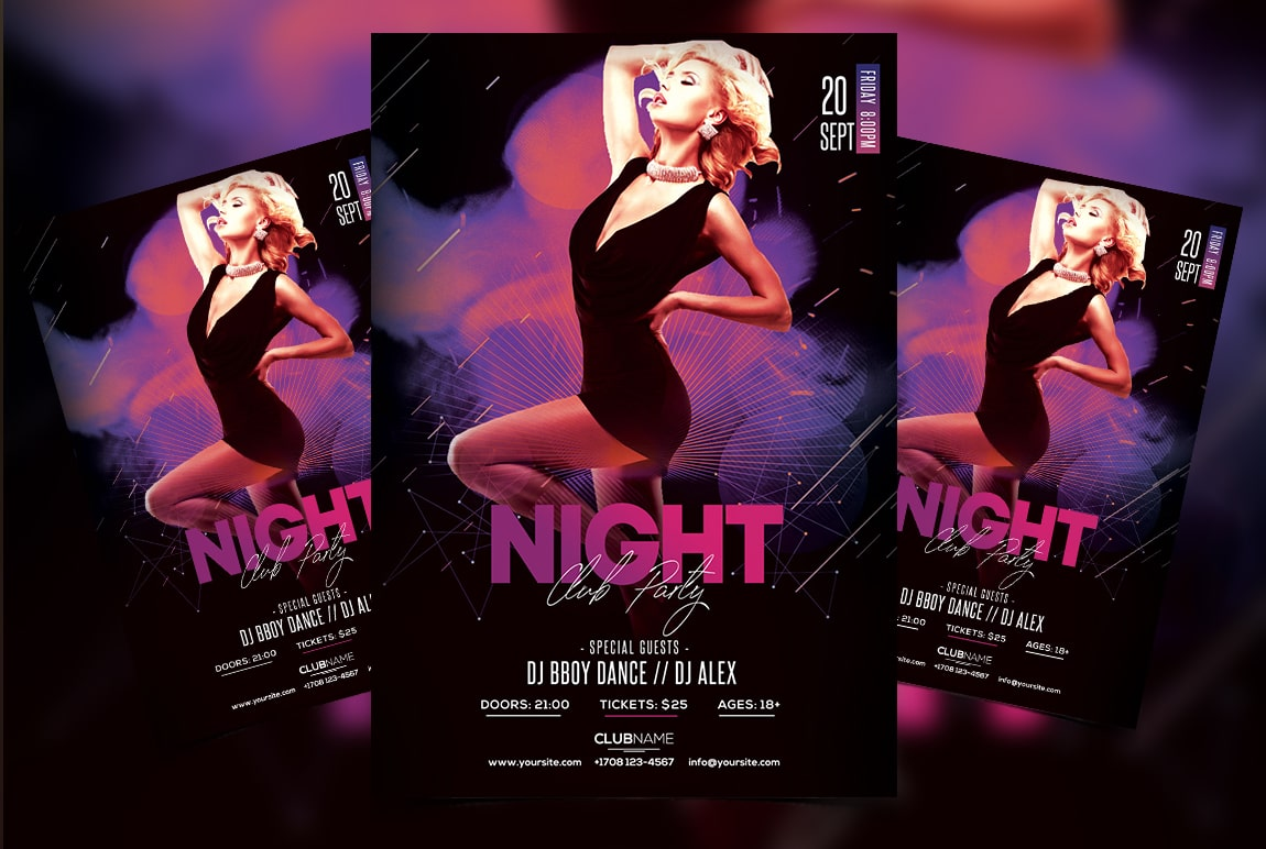 Club Vibe Free Party PSD Flyer Template