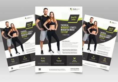 Free Gym and Fitness PSD Flyer Template