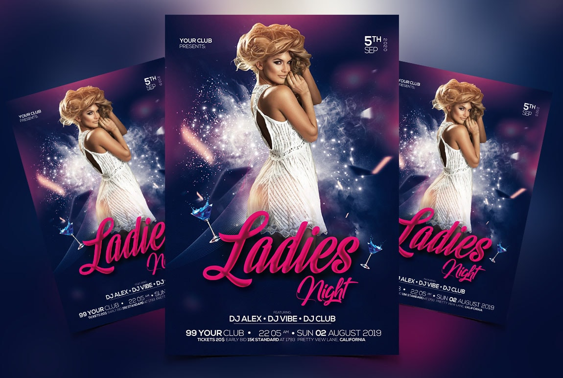 Girls Night Out Free Psd Flyer Template