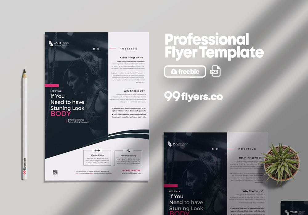 Gym Fit Psd Free Flyer Template