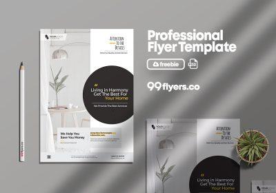 Minimal Furniture & Interior Free PSD Flyer Template
