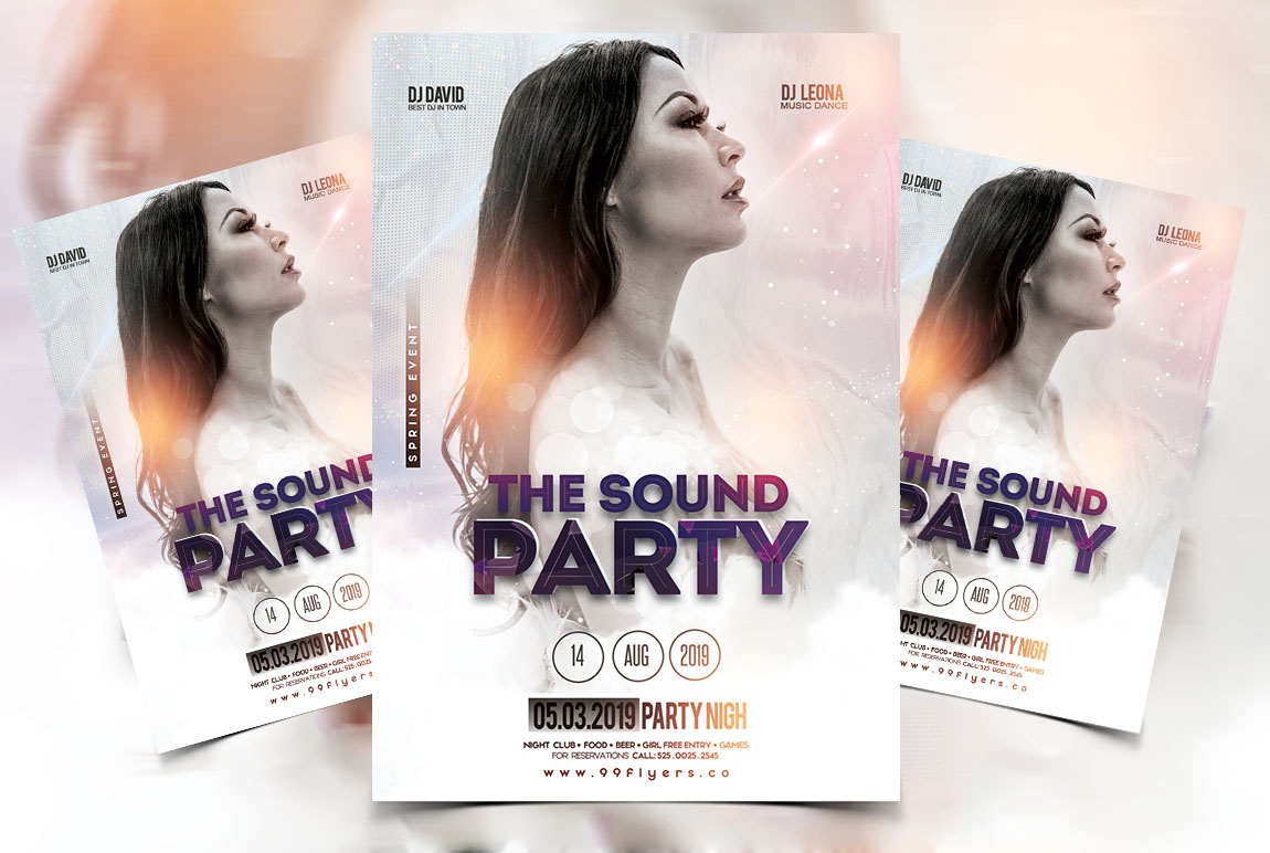 The Sound Party PSD Free Flyer Template