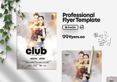 White Party PSD Free Flyer Template