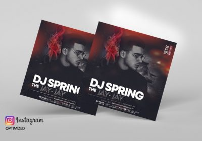 DJ Club Party Free PSD Flyer Template