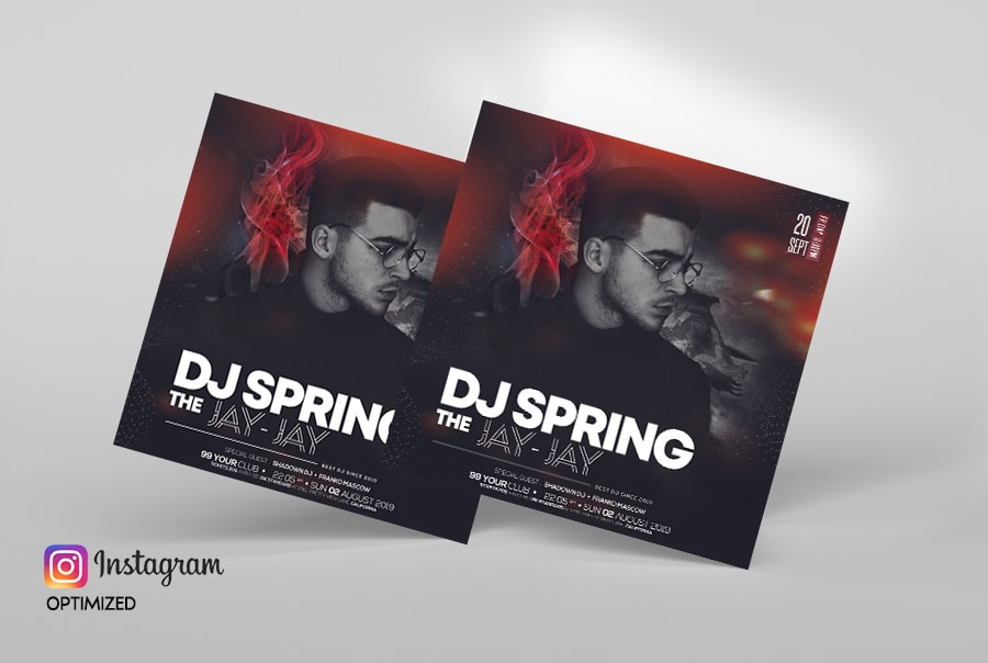 DJ Club Party Free PSD Flyer Template