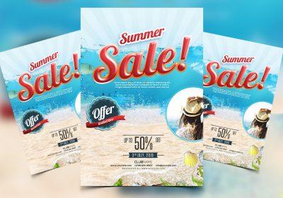 Summer Sale Free PSD Flyer Template