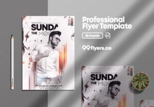 Sundays Vibe Free PSD Flyer Template