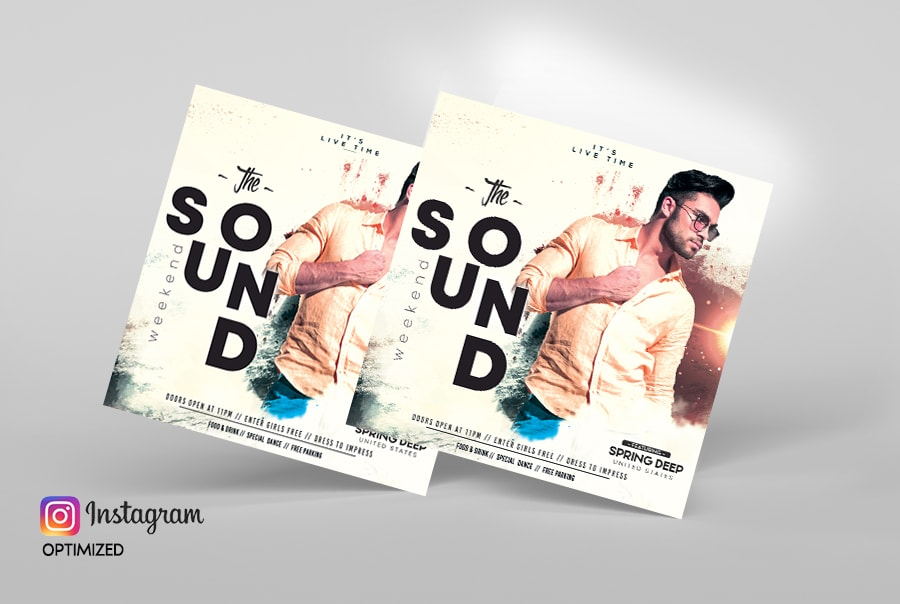 The Sound Weekend Free PSD Flyer TemplateThe Sound Weekend Free PSD Flyer Template