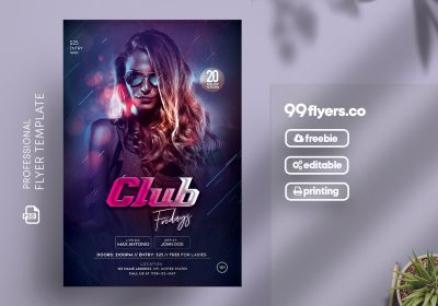 Club Friday Event Free PSD Flyer Template