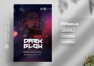 EDM Dark Glow Free PSD Flyer Template