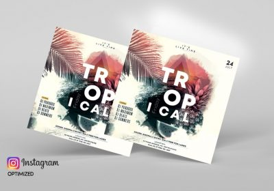 Friday Beach – Free Summer PSD Flyer Template