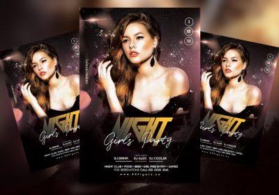 Girls Night Event Free PSD Flyer Template
