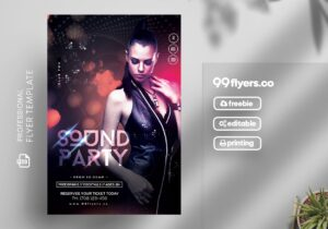 Sound Party Night Free PSD Flyer Template