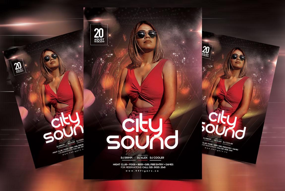 City Sound Free PSD Flyer Template