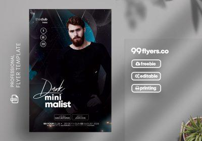 Minimalist Dark Party Free PSD Flyer Template