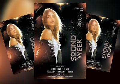 Sound Week Party Free PSD Flyer Template