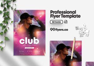 DJ Artist Event Free PSD Flyer Template