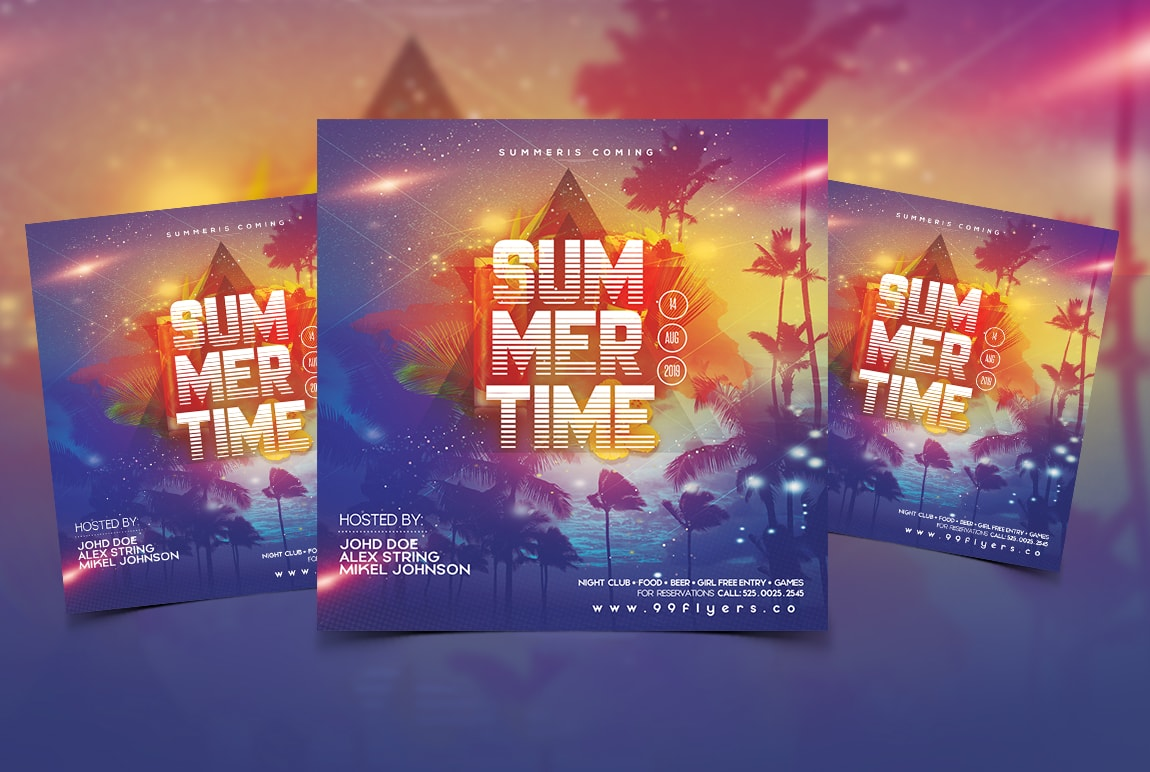 Summer Beach Days Free PSD Flyer Template