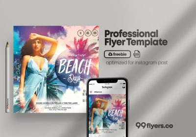 Tropical Days Free PSD Flyer Template