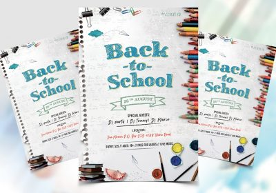 Back To School Event Flyer Free PSD Flyer