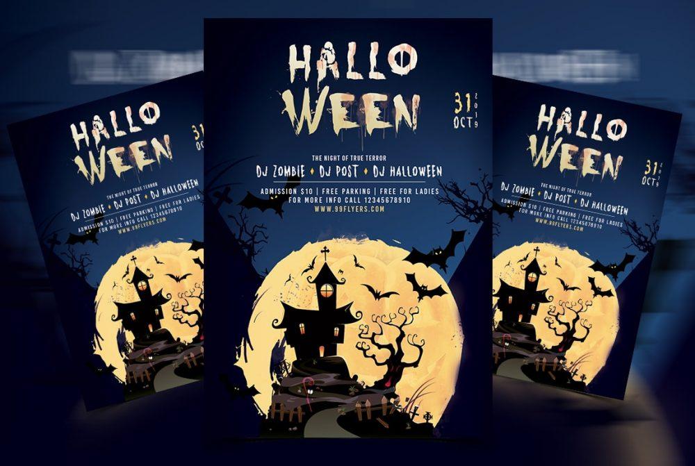 Halloween Event Free PSD Flyer Template