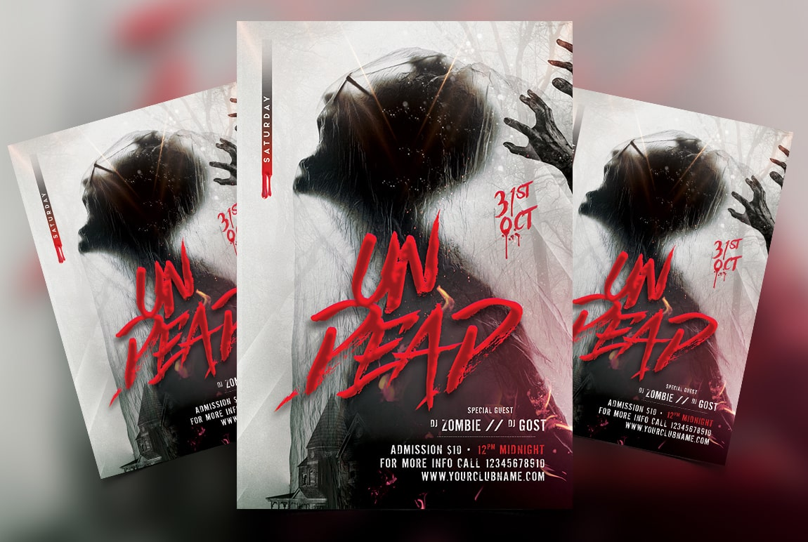 Happy Halloween Free PSD Flyer Template