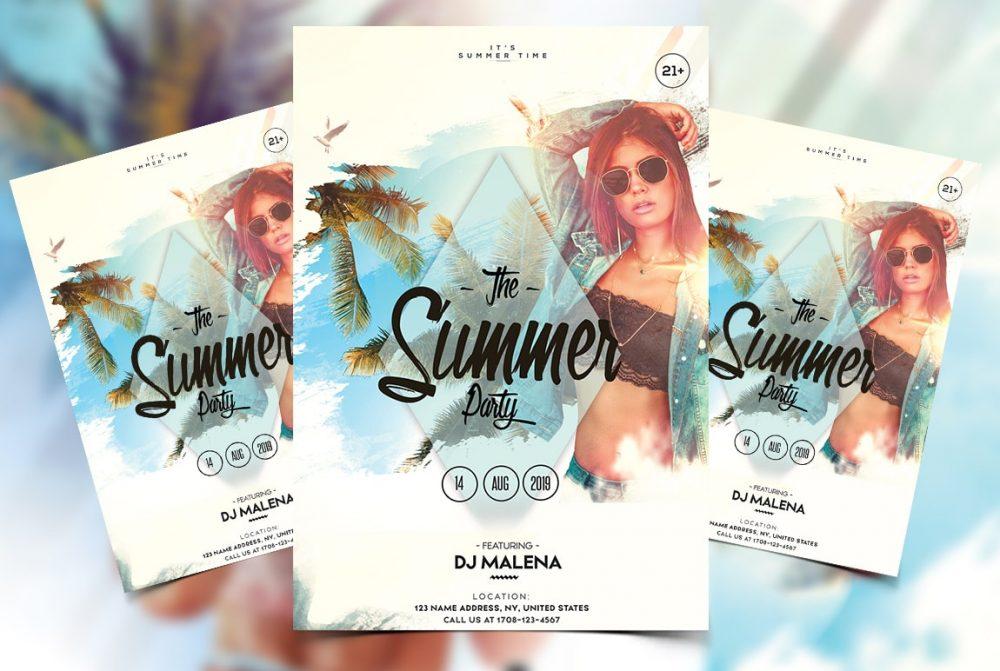 Summer Weekend Vibes Free PSD Flyer Template