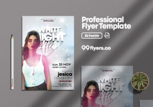 White Night Affair Free PSD Flyer Template