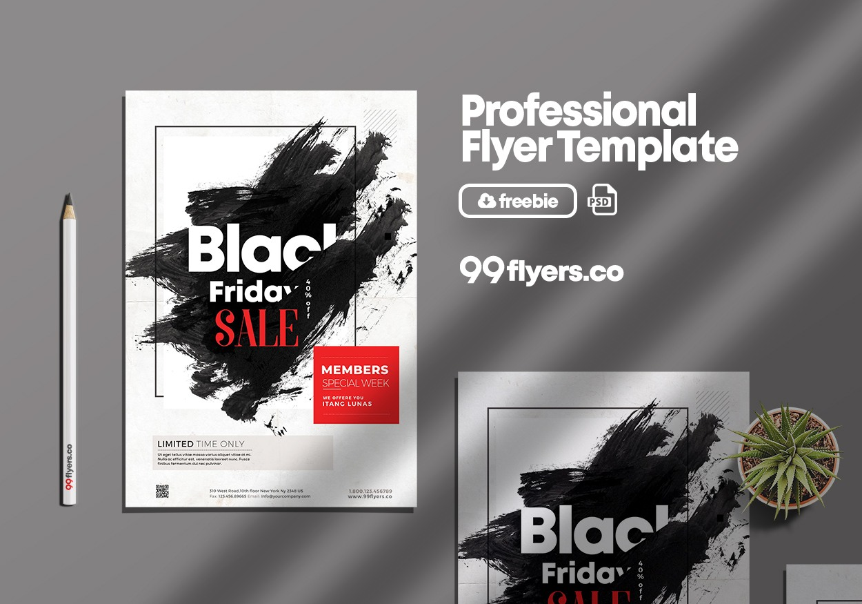Black Friday Sale Event Free PSD Flyer Template