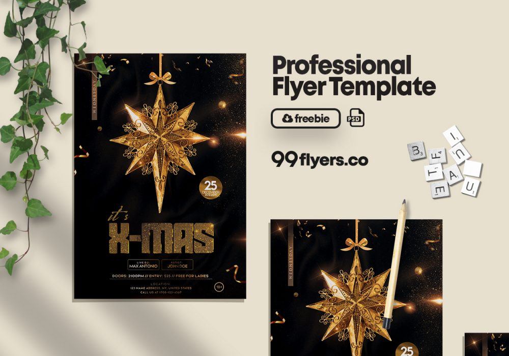 Christmas Time Flyer Free PSD Template