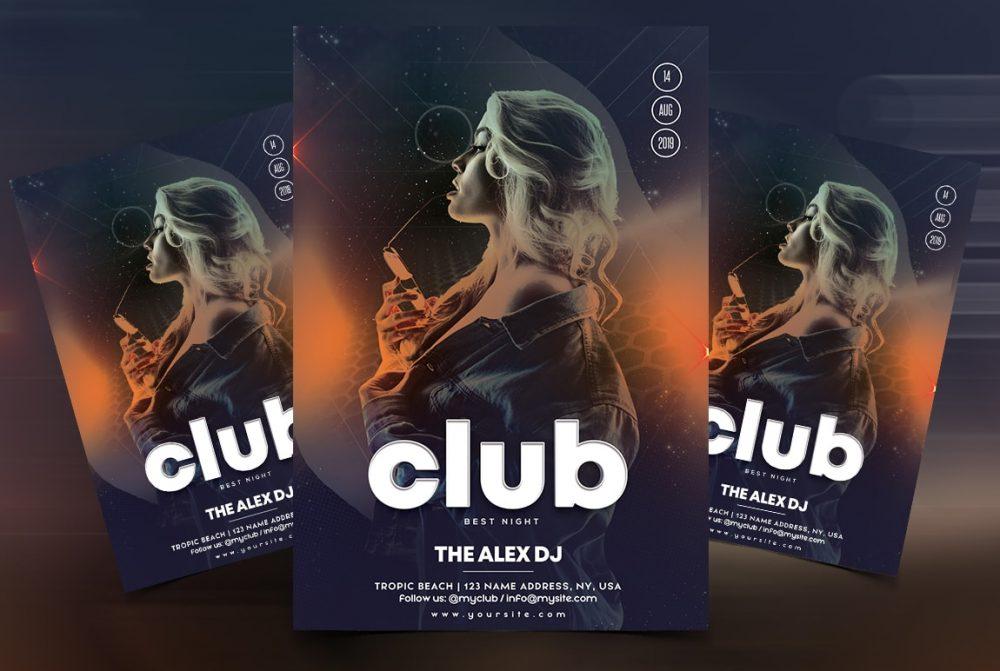 Live DJ Performance Free Flyer Template