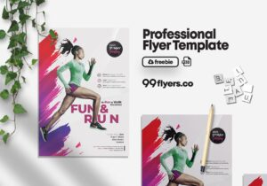 Marathon Event Flyer Free PSD Template