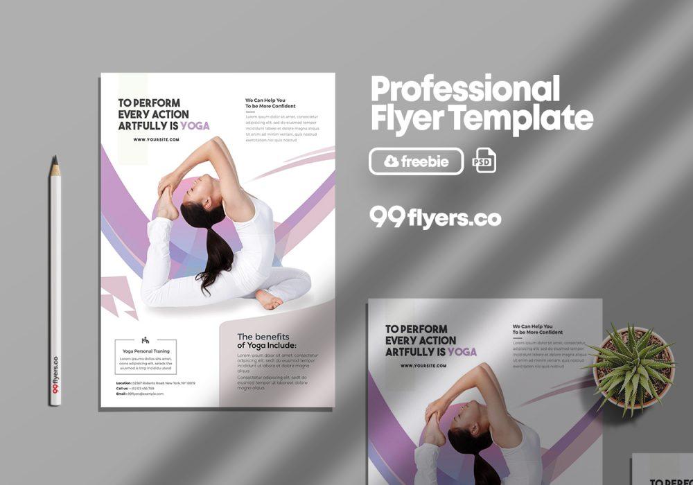 Yoga Class Free PSD Flyer Template
